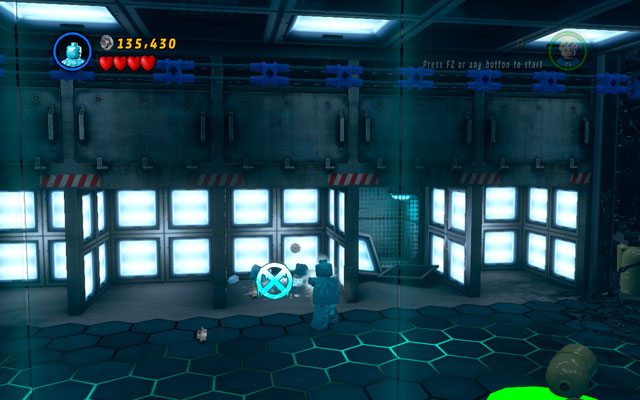 In the further area go to the corridor filled by cages - Exploratory Laboratory - Minikit Sets - LEGO Marvel Super Heroes - Game Guide and Walkthrough