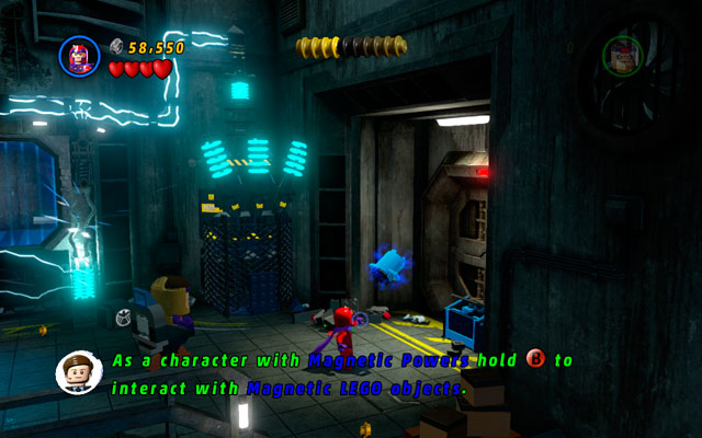 In the same location go to the right, finally approaching to the wall - Rock Up at the Lock Up - Minikit Sets - LEGO Marvel Super Heroes - Game Guide and Walkthrough