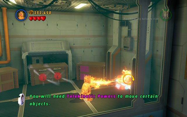 Second is located on the other side of the same lift pit - in the room behind two blue-and-white walls - Rebooted, Resuited - Minikit Sets - LEGO Marvel Super Heroes - Game Guide and Walkthrough