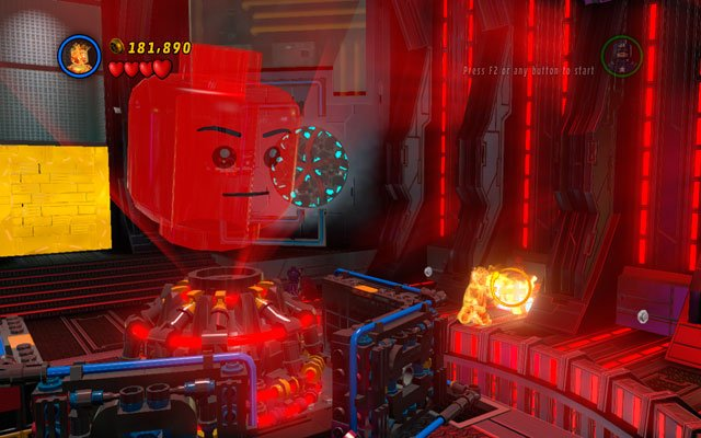 The last statue is located in the room with Jarvis head - Rebooted, Resuited - Minikit Sets - LEGO Marvel Super Heroes - Game Guide and Walkthrough