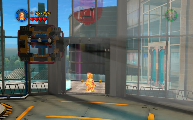 Far before mentioned location go to the balustrade and choose any flying character - Rebooted, Resuited - Minikit Sets - LEGO Marvel Super Heroes - Game Guide and Walkthrough