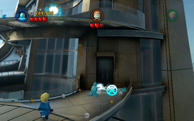 During final battle turn right and approach to the pool as Iceman - Rebooted, Resuited - Minikit Sets - LEGO Marvel Super Heroes - Game Guide and Walkthrough