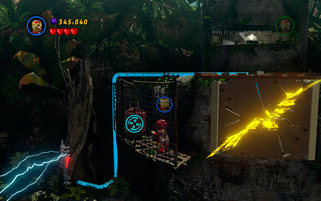 The last trunk is hidden in the bunker at the end of this stage, on the left - Rapturous Rise - Minikit Sets - LEGO Marvel Super Heroes - Game Guide and Walkthrough