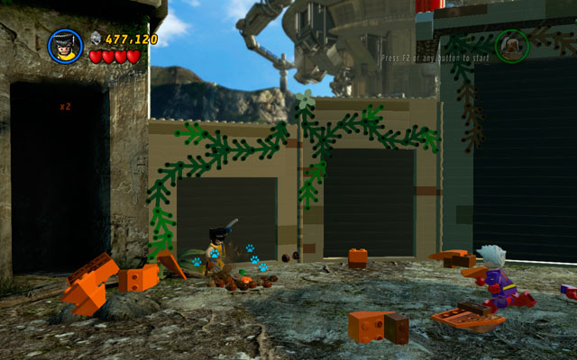 The last pumpkin can be found on the same stage, in the upper-left corner - Rapturous Rise - Minikit Sets - LEGO Marvel Super Heroes - Game Guide and Walkthrough