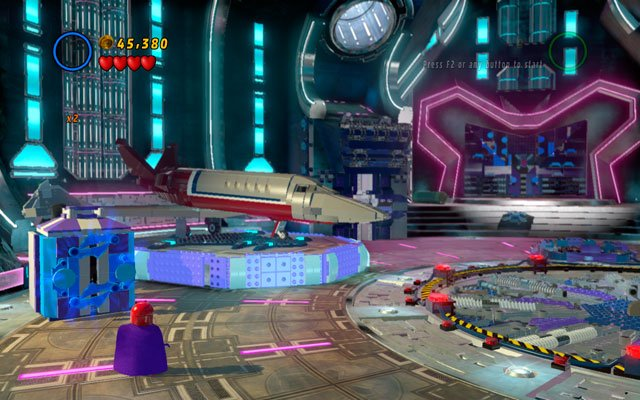 Choose Magneto and turn left, approaching to the metal box - Magnetic Personality - Minikit Sets - LEGO Marvel Super Heroes - Game Guide and Walkthrough