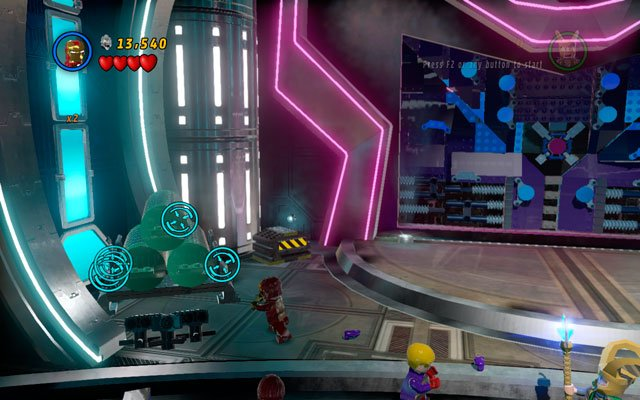 In the same location three barrel racks are hidden (one on the left, two on the right) - destroy them to obtain a minikit - Magnetic Personality - Minikit Sets - LEGO Marvel Super Heroes - Game Guide and Walkthrough