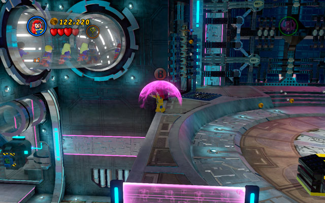 Fly to the higher level and stand at the edge of the platform - Magnetic Personality - Minikit Sets - LEGO Marvel Super Heroes - Game Guide and Walkthrough