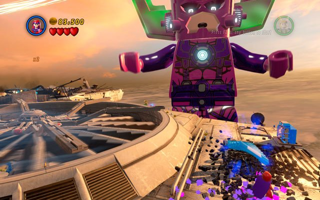 Close to the metal box mentioned above it is a metal plate attached to the wing - The Good, the Bad and the Hungry - Minikit Sets - LEGO Marvel Super Heroes - Game Guide and Walkthrough