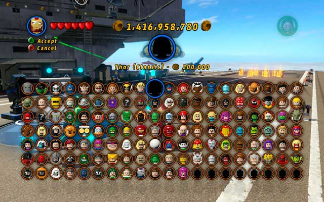 superheroes and archvillains characters to unlock lego marvel