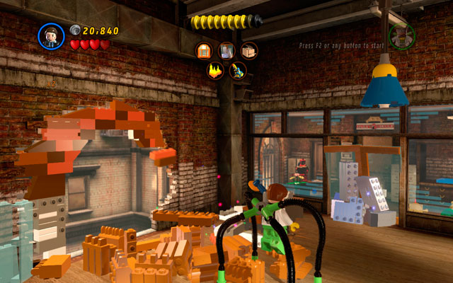 Your goal is to tidy up Daily Bugle building - Tabloid Tidy Up - Deadpool Bonus Missions: Walkthrough - LEGO Marvel Super Heroes - Game Guide and Walkthrough