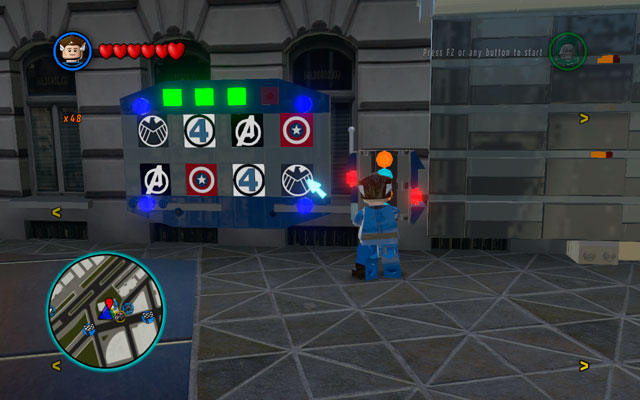 To unlock this mission you must find a Bank building in the Financial District - A Shock Withdrawal - Deadpool Bonus Missions: Walkthrough - LEGO Marvel Super Heroes - Game Guide and Walkthrough