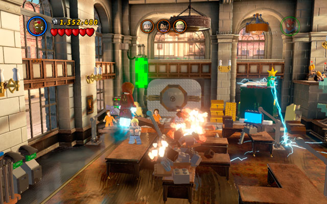 Choose Iron Man and fly to the middle of the room - A Shock Withdrawal - Deadpool Bonus Missions: Walkthrough - LEGO Marvel Super Heroes - Game Guide and Walkthrough