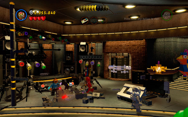 Turn left, destroying all objects in the area, then build a DJs set from the debris - House Party Protocol - Deadpool Bonus Missions: Walkthrough - LEGO Marvel Super Heroes - Game Guide and Walkthrough