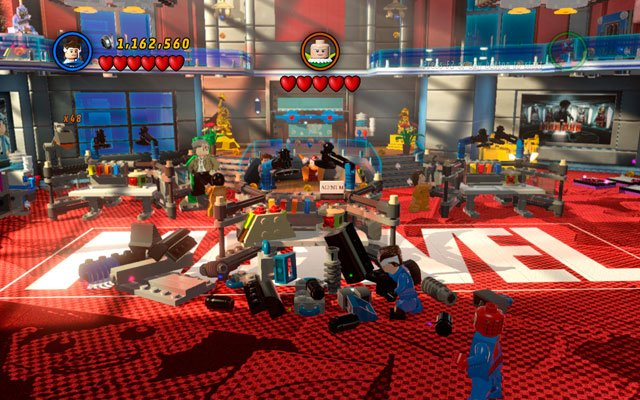 In the second room destroy all the nearby furniture and use the debris to create a bird house for Vulture - Nuff Said - Deadpool Bonus Missions: Walkthrough - LEGO Marvel Super Heroes - Game Guide and Walkthrough
