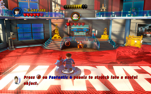 From the last pile of the bricks build a Fantastic Four emblem - Nuff Said - Deadpool Bonus Missions: Walkthrough - LEGO Marvel Super Heroes - Game Guide and Walkthrough