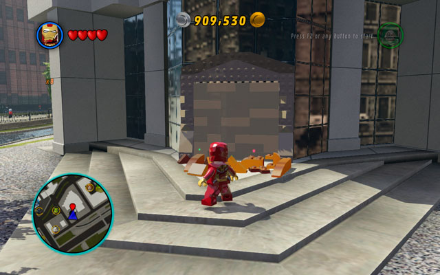 To unlock this mission, you must collect 50 gold bricks - Feeling Fisky - Deadpool Bonus Missions: Walkthrough - LEGO Marvel Super Heroes - Game Guide and Walkthrough