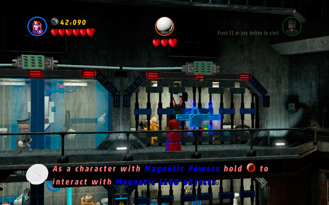 Choose Magneto and go upstairs - then turn right, smashing every object on your way - The Thrill of the Chess - Deadpool Bonus Missions: Walkthrough - LEGO Marvel Super Heroes - Game Guide and Walkthrough