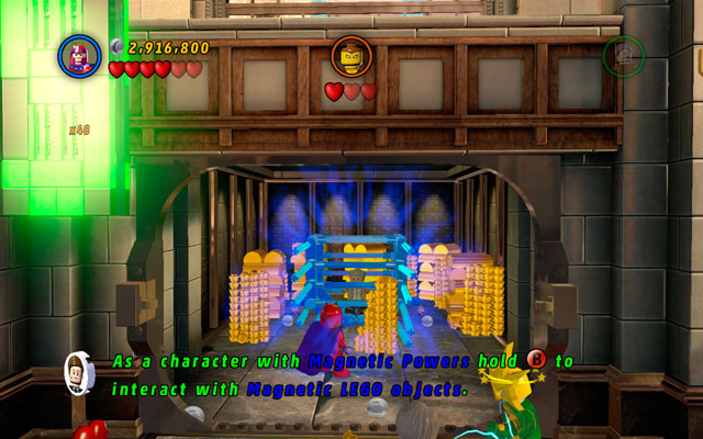 After luring Shocker out from the vault, enter it and switch into Magneto - A Shock Withdrawal - Deadpool Bonus Missions: Collectables - LEGO Marvel Super Heroes - Game Guide and Walkthrough