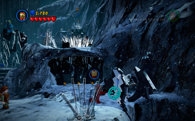 On the right side of the area you will find the Thor (Classic) Character Token - Bro-tunheim - Deadpool Bonus Missions: Collectables - LEGO Marvel Super Heroes - Game Guide and Walkthrough