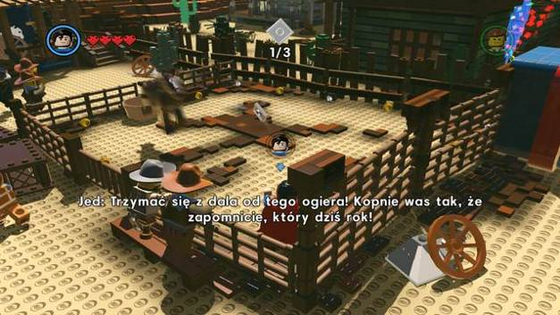 The second instruction page - Old West - Side Missions - Red Bricks - The LEGO Movie Videogame - Game Guide and Walkthrough