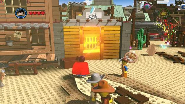 The third instruction page - Old West - Side Missions - Red Bricks - The LEGO Movie Videogame - Game Guide and Walkthrough