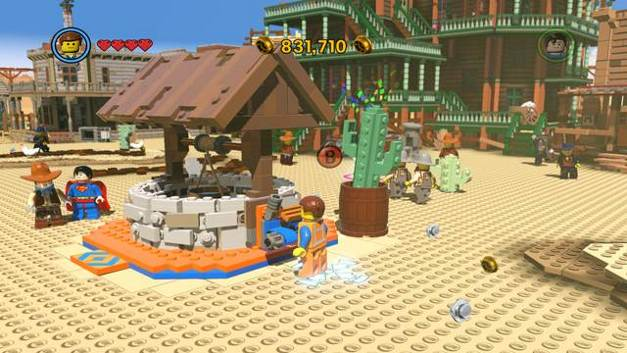 The well - Old West - Side Missions - Red Bricks - The LEGO Movie Videogame - Game Guide and Walkthrough