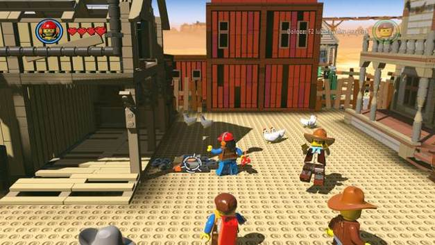 Set the barn on fire - Old West - Side Missions - Red Bricks - The LEGO Movie Videogame - Game Guide and Walkthrough