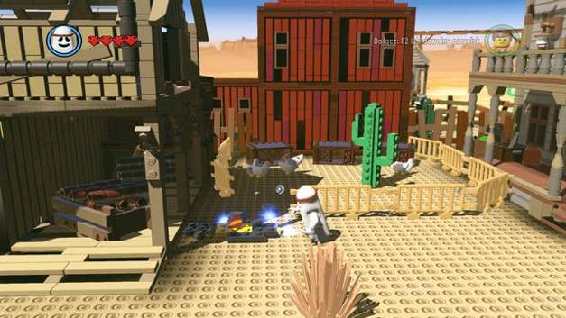 Build a steam pipe - Old West - Side Missions - Red Bricks - The LEGO Movie Videogame - Game Guide and Walkthrough