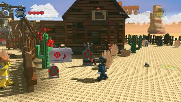 The fifth bird - Old West - Side Missions - Red Bricks - The LEGO Movie Videogame - Game Guide and Walkthrough