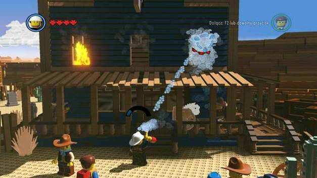 The building on fire - Old West - Side Missions - Red Bricks - The LEGO Movie Videogame - Game Guide and Walkthrough