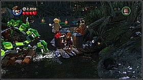 Take the cage with the monkey and put it on the raft - A Touch of Destiny - walkthrough - Dead Man's Chest - LEGO Pirates of the Caribbean: The Video Game - Game Guide and Walkthrough