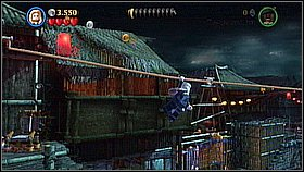 Use Elisabeth's double jump to get to the roof and go right - Singapore - walkthrough - At World's End - LEGO Pirates of the Caribbean: The Video Game - Game Guide and Walkthrough