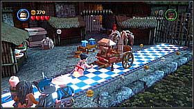 Build the cart using the destroyed chest [1] and move it towards the gate - Singapore - walkthrough - At World's End - LEGO Pirates of the Caribbean: The Video Game - Game Guide and Walkthrough