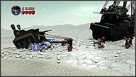 Use the compass and find the peanut - Davy Jones Locker - walkthrough - At World's End - LEGO Pirates of the Caribbean: The Video Game - Game Guide and Walkthrough