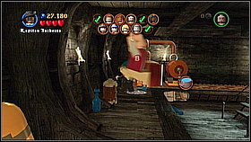 Outside get rid of another red and black barrels and roll your barrel to the boiler - Davy Jones Locker - walkthrough - At World's End - LEGO Pirates of the Caribbean: The Video Game - Game Guide and Walkthrough