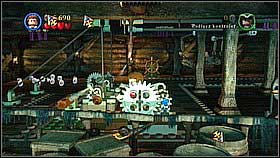 When you take the object to the left, again use the golden helm to remove the platforms - Norrington's Choice - walkthrough - At World's End - LEGO Pirates of the Caribbean: The Video Game - Game Guide and Walkthrough