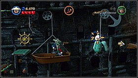 Eventually you will get to the bigger platform - Norrington's Choice - walkthrough - At World's End - LEGO Pirates of the Caribbean: The Video Game - Game Guide and Walkthrough