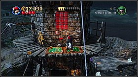 Get to the tower and repeat the action with pulling out the dynamite - Whitecap Bay - walkthrough - On Stranger Tides - LEGO Pirates of the Caribbean: The Video Game - Game Guide and Walkthrough