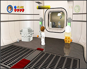 When you reach the dark room, move the two crates into the carvings on the floor - Secret Plans - Story Mode - Episode IV - LEGO Star Wars II: The Original Trilogy - Game Guide and Walkthrough