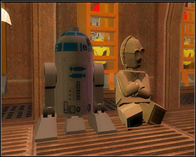 Defeat some more stormies and when you're further into the corridor, use the bricks on the floor to form a path for the droids - Secret Plans - Story Mode - Episode IV - LEGO Star Wars II: The Original Trilogy - Game Guide and Walkthrough