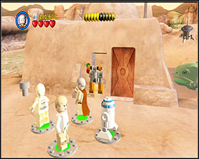 Use the bricks to build an engine for the Sandspeeder and jump in it to ride to the right - Through the Jundland Wastes - Story Mode - Episode IV - LEGO Star Wars II: The Original Trilogy - Game Guide and Walkthrough