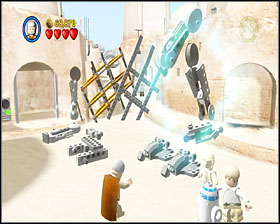 When you're done with the walker, a stormie will enter it (now that's just rude) - Mos Eisley Spaceport - Story Mode - Episode IV - LEGO Star Wars II: The Original Trilogy - Game Guide and Walkthrough