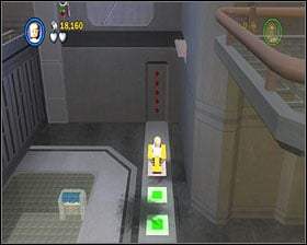 Use the lever to make a crate appear - Death Star Escape - Story Mode - Episode IV - LEGO Star Wars II: The Original Trilogy - Game Guide and Walkthrough