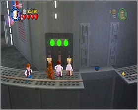 Go to the right and open the door, using the bricks to form a panel - Death Star Escape - Story Mode - Episode IV - LEGO Star Wars II: The Original Trilogy - Game Guide and Walkthrough
