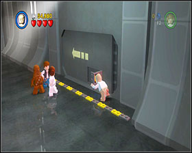 Use the lever to the right of the entrance to turn on the air vent - Death Star Escape - Story Mode - Episode IV - LEGO Star Wars II: The Original Trilogy - Game Guide and Walkthrough