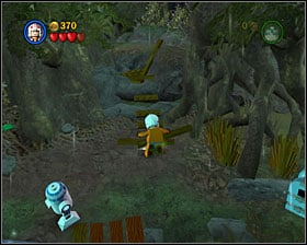 Fix a button with some loose bricks and press it - Dagobah - Story Mode - Episode V - LEGO Star Wars II: The Original Trilogy - Game Guide and Walkthrough