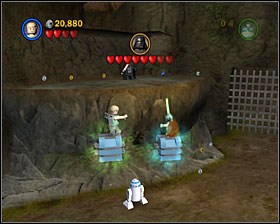 Jump through some platforms across the abyss - Dagobah - Story Mode - Episode V - LEGO Star Wars II: The Original Trilogy - Game Guide and Walkthrough
