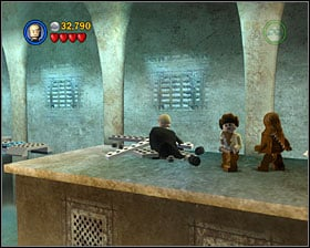 Go up the stairs - Jabba's Palace - Story Mode - Episode VI - LEGO Star Wars II: The Original Trilogy - Game Guide and Walkthrough