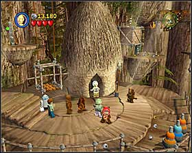 When you reach the chessboard, destroy everything that is on it and build a crate of the rubble - The Battle of Endor - Story Mode - Episode VI - LEGO Star Wars II: The Original Trilogy - Game Guide and Walkthrough
