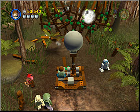 Use the catapult - destroy the gate and shoot AT-ST - The Battle of Endor - Story Mode - Episode VI - LEGO Star Wars II: The Original Trilogy - Game Guide and Walkthrough